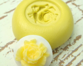 Rose Cameo - Flexible Silicone Mold - Push Mold, Jewelry Mold, Polymer Clay Mold, Resin Mold, Craft Mold, PMC Mold