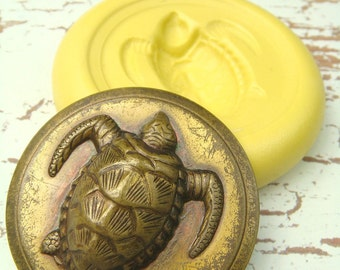 Sea Turtle (x-large) - Flexible Silicone Mold - Push Mold, Polymer Clay Mold, Resin Mold, Pmc Mold
