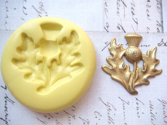 THISTLE - Flexible Silicone Mold - Push Mold, Jewelry Mold, Polymer Clay Mold, Resin Mold, Craft Mold, Food Mold, PMC Mold