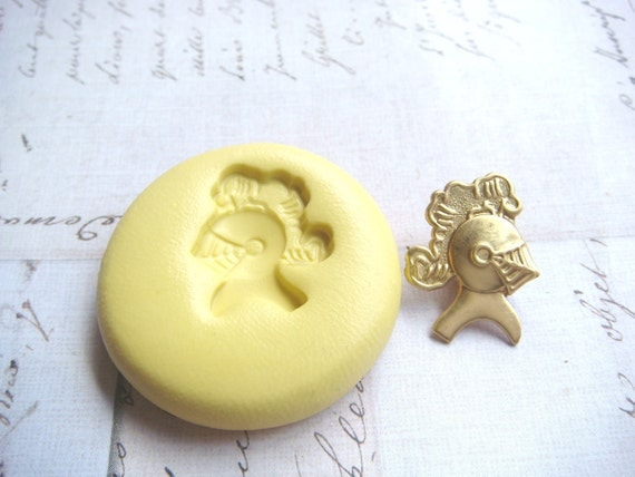 KNIGHTS HELMET- Flexible Silicone Mold - Push Mold, Jewelry Mold, Polymer Clay Mold, Resin Mold, Craft Mold, Food Mold, PMC Mold
