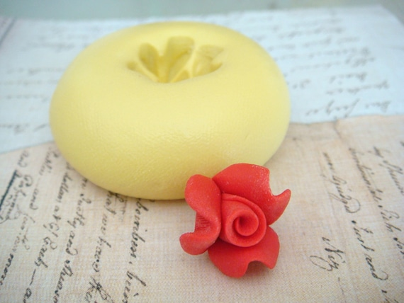 Tiny Rosebud - Flexible Silicone Mold - Push Mold, Jewelry Mold, Polymer Clay Mold, Resin Mold, Craft Mold, Food Mold, PMC Mold