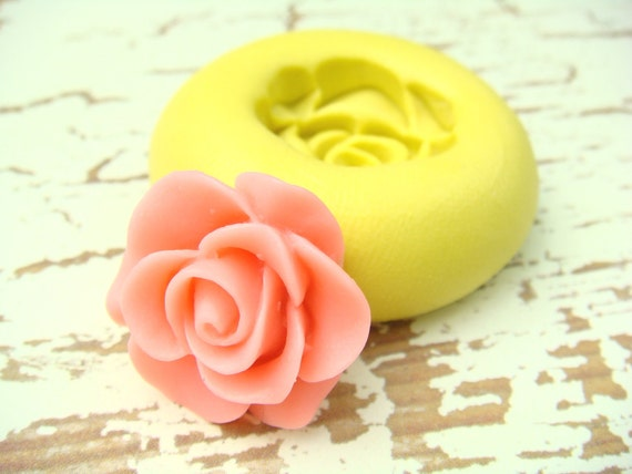Victorian Rose Blossom - Flexible Silicone Mold - Push Mold, Jewelry Mold, Polymer Clay Mold, Resin Mold, Craft Mold, PMC Mold