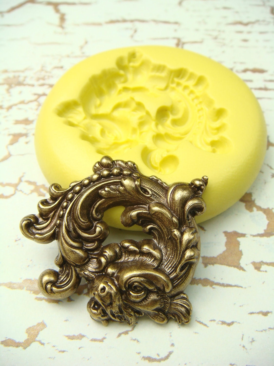 Koi fish flexible silicone mold push mold jewelry mold for Silicone fish molds