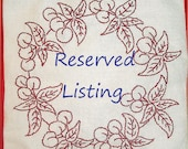 Custom Quilt Label Reserved For Deanna