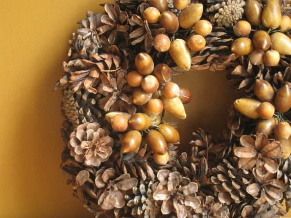 Autumn Wreath Pinecone Woodland Fall Decor