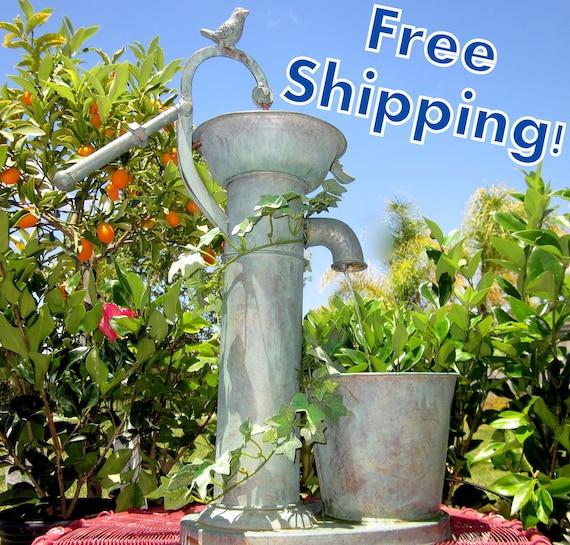 Pump It Up Water Fountain - Indoor Fountain - Outdoor Fountain - Garden Decor
