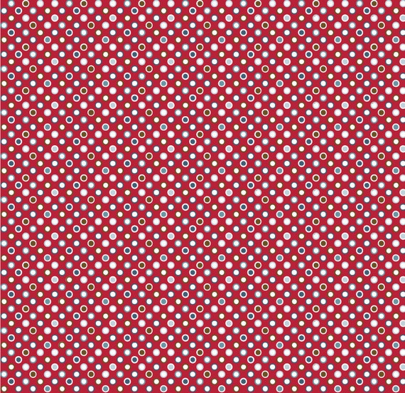 SALE 50% OFF Red Mini Dots by Riley Blake 1 yard
