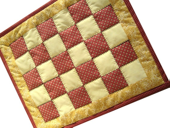 Mini Traditional Patchwork Quilt, Under a Plant, Doll Quilt, Table Topper, Candle Mat You Pick