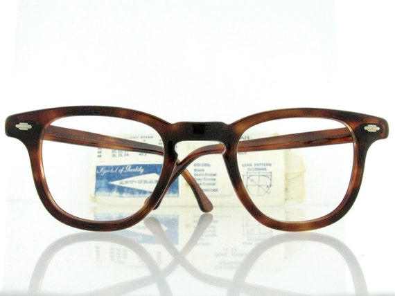 Vintage deadstock 1950's Art Craft Demi Amber eyeglasses - FREE DOMESTIC SHIPPING