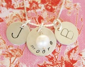 Wedded Bliss... handstamped personalized sterlinc silver necklace.