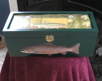 Trout Keepsake Box.