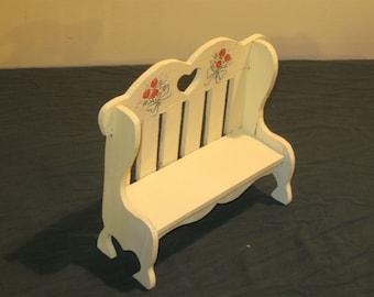 Miniature garden bench.