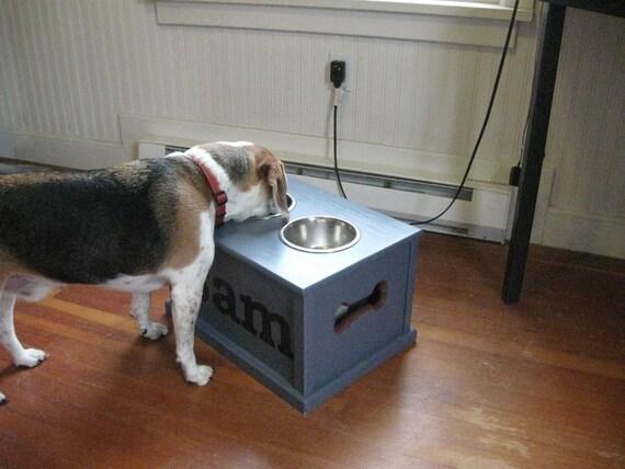 Customized dog feeding station