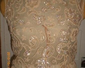 1960's sheer beaded blouse