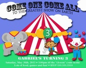 Carnival Circus Birthday Invitation