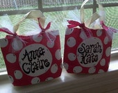 Super Cute Pink Polka Dot Name Bag