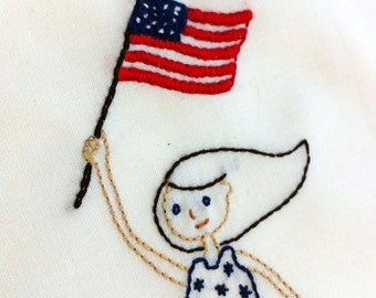 4th of July Embroidery pattern