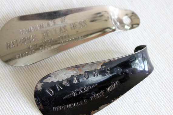 Two Vintage Advertising Shoe Horns