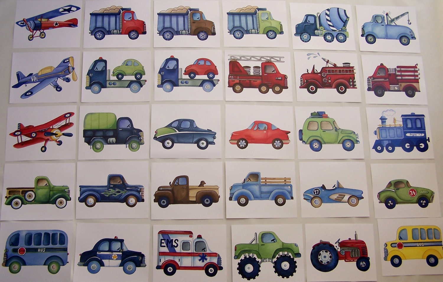 transportation art prints construction trucks art kids