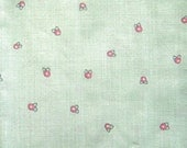Vintage Peaches n Green Fabric Piece - 16 x 70