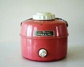 vintage pink metal therm-a-jar