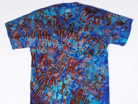 M Shibori Men's T Shirt  Turquoise Violet