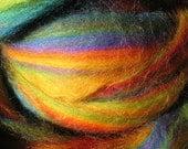 LAST - 4 oz MERINO Wool Top - Hawaiian Rainbow