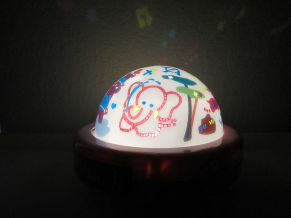 1980s Tomy Musical Lullaby Night Light Show Toy