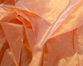 Silk Taffeta in Pale Orange with ash tinge Fat Qurter-TF 51