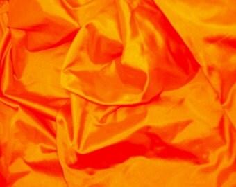 Silk Taffeta in Yellow-Orange   -TF 7 A