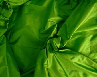 Silk Taffeta in Lime Green, Fat Qurter- TF 13