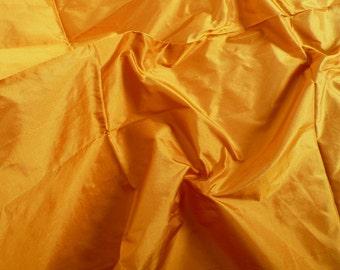 Silk Taffeta in Dark Mustard- Fat quarter -TF 29