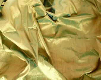 Silk Dupioni in Pistachio with Green, Fat qarter-D 145