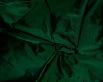 Silk Taffeta in Dark Green-Black Fat Qurter-TF 47