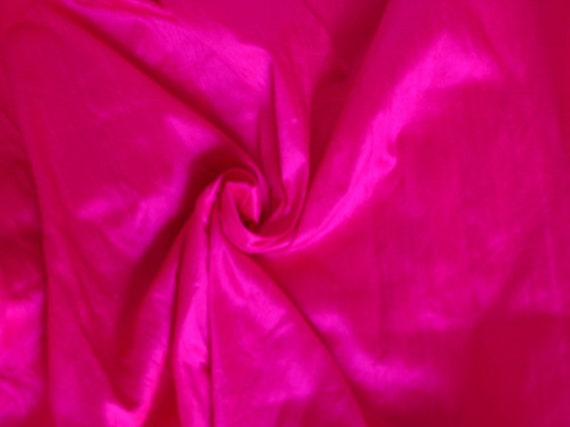 Bright Magenta Silk Dupioni - Fat Quarter - D 39