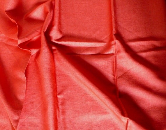 Cotton silk blended in tomato color - Half yard 52 inches wide.