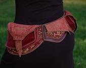 Festival Pocket Belt - Royal Red II - Utility belt - Steampunk Inspired