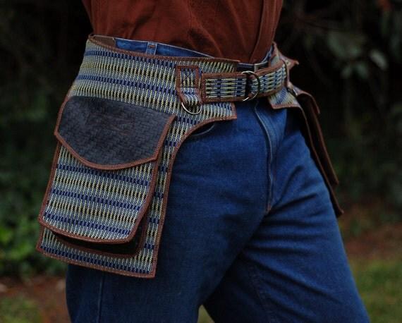 Saddlebag style - Psychedelic Pop - Festival Pocket Belt - Utility belt - On sale