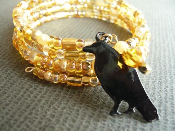 Amber Bead Bracelet - Nevermore - Autumn Jewelry