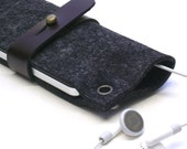iPhone or iPod CLASSIC anthracite felt sleeve