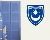 Portsmouth Badge - Wall Decal Art Stickers football sport bedroom nursery playroom - Large