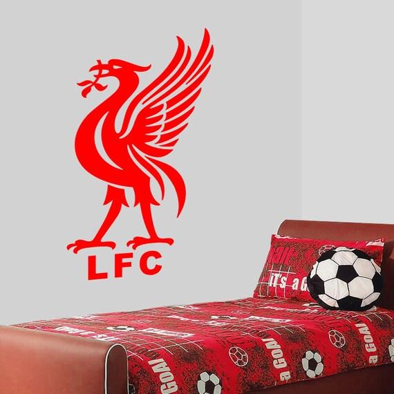 items similar to liver bird liverpool fc wall decal liverpool football club wall sticker lfcwa09 163 9 99