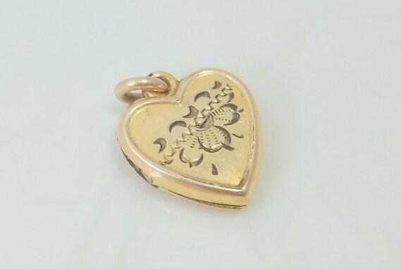 Antique Victorian 12K Gold Filled LaMode Heart Locket Pendant