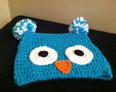 Toddler Turquoise Owl Hat