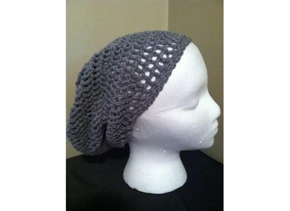 Organic Cotton Grey Slouch Hat