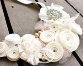 Bloom Ivory Bride Statement Bib Necklace by Studio H. Boutique