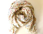 Multicolor Polka Dot Scarf - by Studio H. Boutique