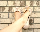 Satin Bow Shoe Clips in Nude, Salmon Pink and more by Studio H. Boutique