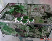 Custom Made Stained Glass Jewelry Box with dividers
