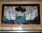 Stained Glass Facing Swans